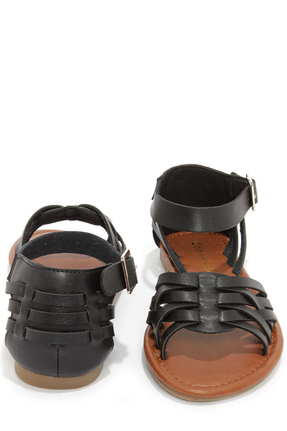 5913bcfecee City Classified Jowl Black Huarache Ankle Strap Sandals