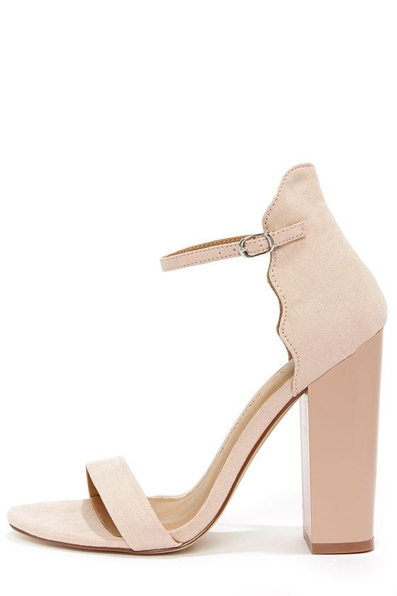 Cute Pink Heels - Ankle Strap Heels - Blush Heels - $79.00