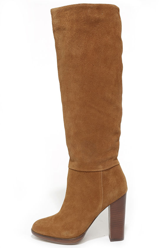 Cute Tan Boots - Suede Boots - Knee-High Boots - $139.00