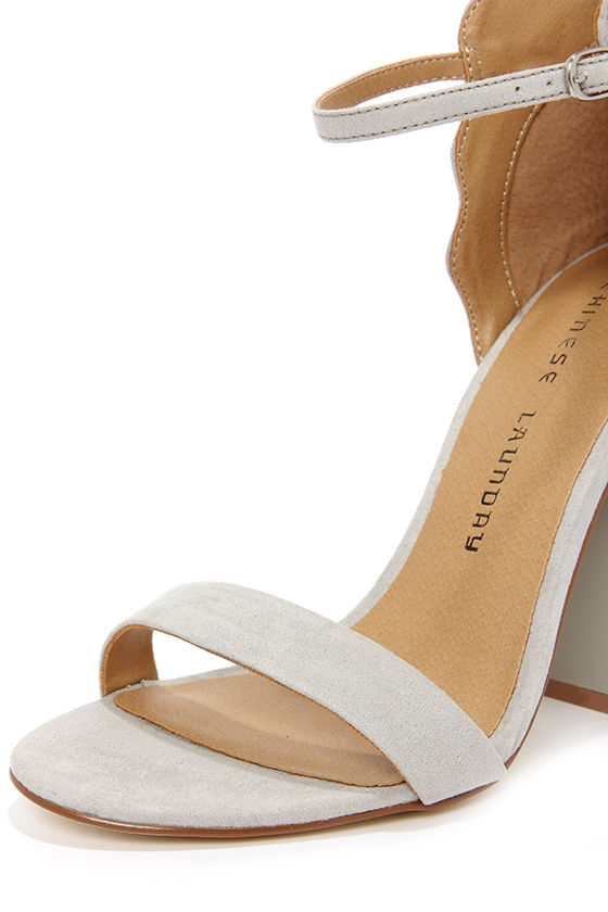 Chinese Laundry Sea Breeze Smoke High Back Ankle Strap Heels at Lulus.com!