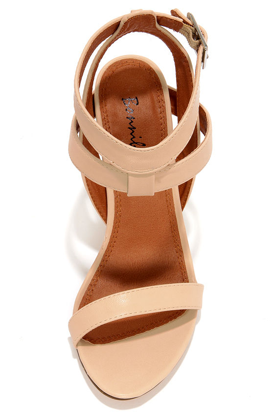 Rosita 3 Nude Ankle Strap Dress Sandals at Lulus.com!