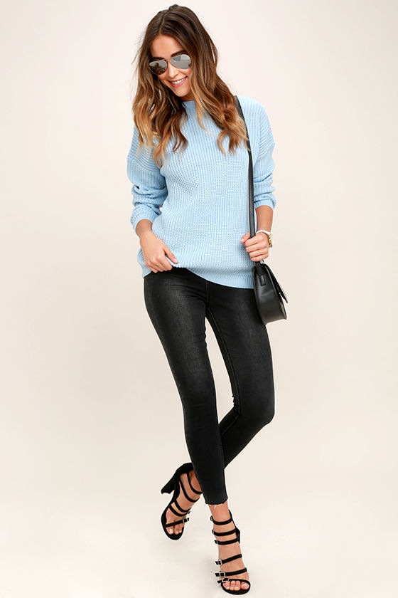 Island Ferry Light Blue Sweater 2