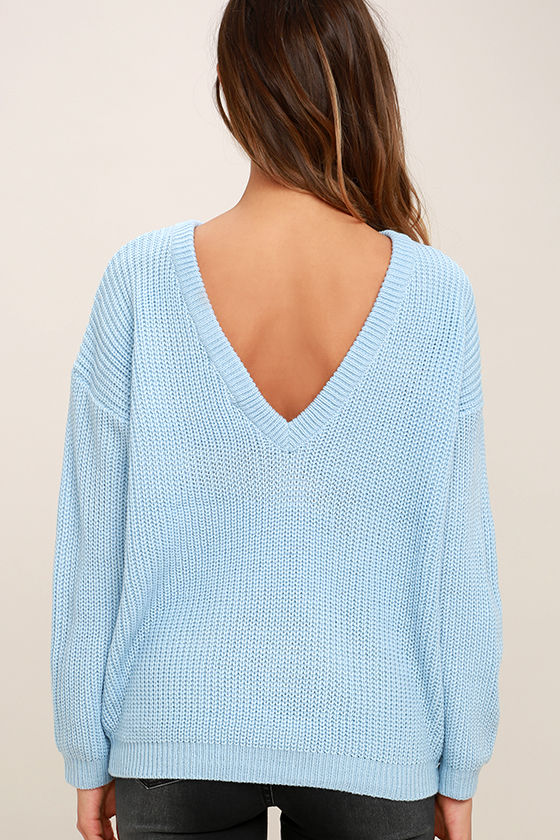 Island Ferry Light Blue Sweater 4