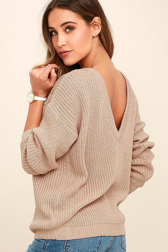 Island Ferry Taupe Sweater 1