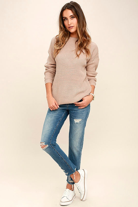 Island Ferry Taupe Sweater 2