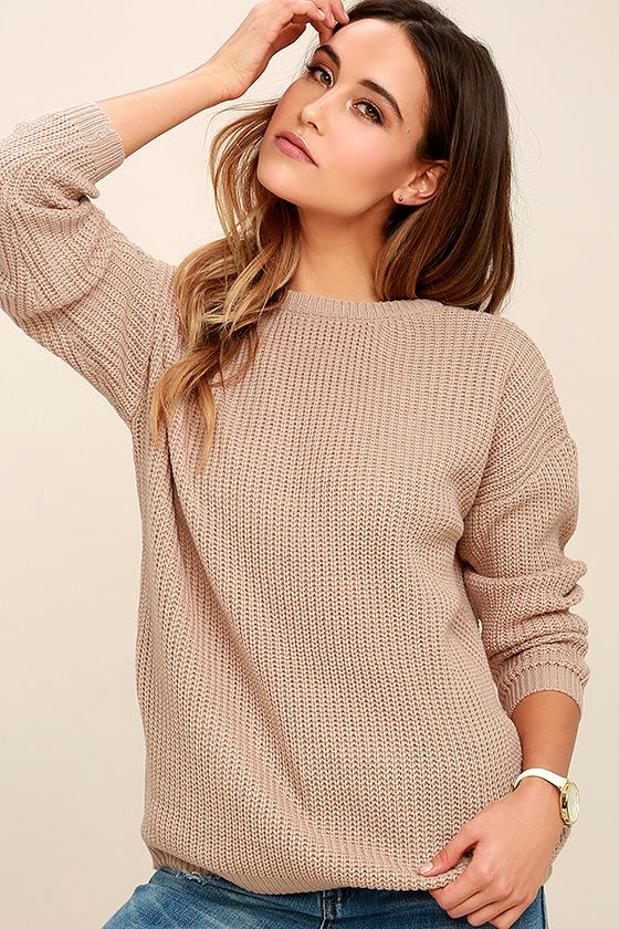 Island Ferry Taupe Sweater 3