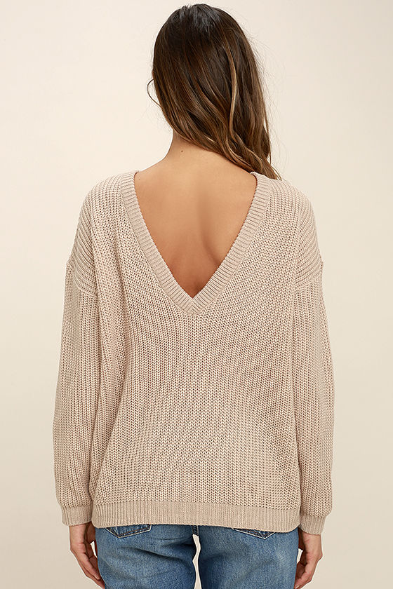 Island Ferry Taupe Sweater 4