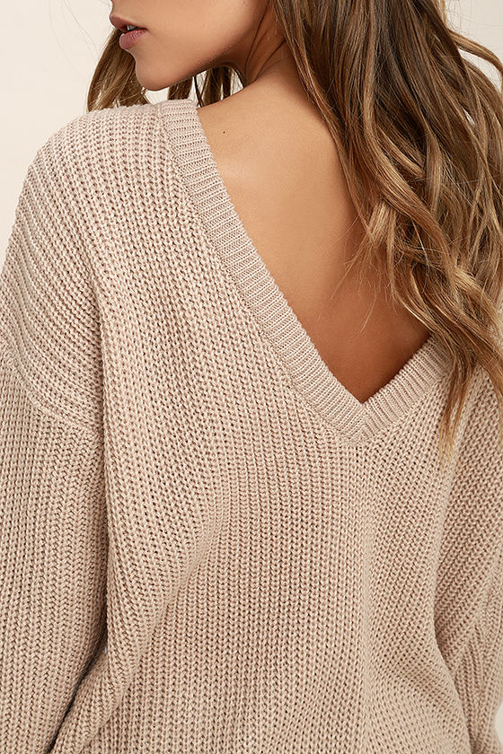 Island Ferry Taupe Sweater 5