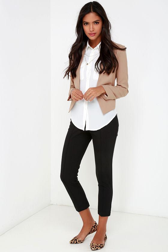 509980b3c07 Chic Tan Blazer - Cropped Blazer - Pocketed Blazer -  52.00