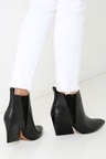 Cute Black Booties - Wedge Booties - Ankle Boots -  110.00 d58c2dc0800f