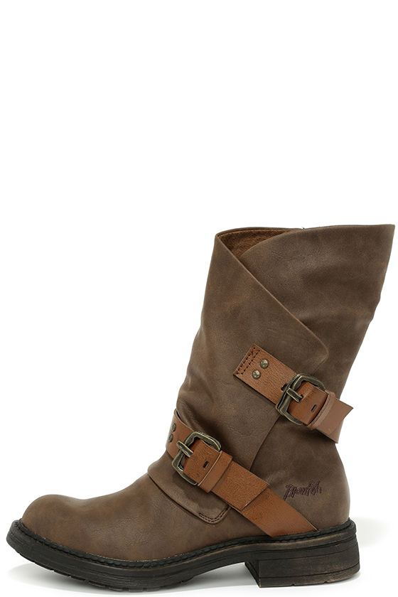 45b698958 Cute Brown Boots - Mid-Calf Boots - Flat Boots - $65.00