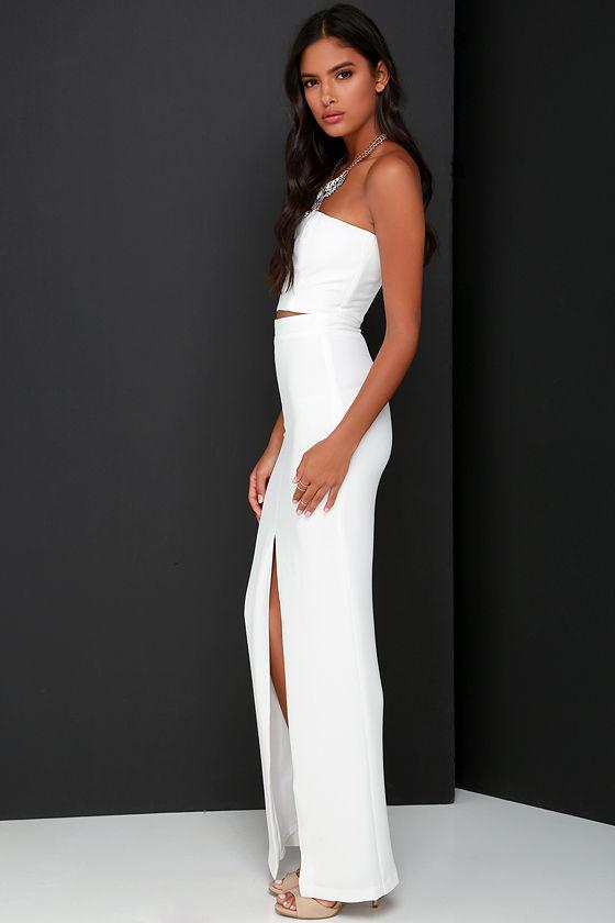 aa8ca2bc271 Chic Ivory Dress - Two-Piece Dress - Maxi Dress -  119.00
