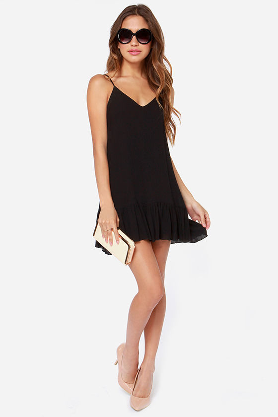 Let It Flow Black Dress at Lulus.com!