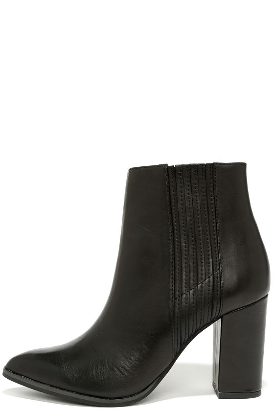 Cute Black Boots - Ankle Boots - Booties - Pointed Boots - $167.00