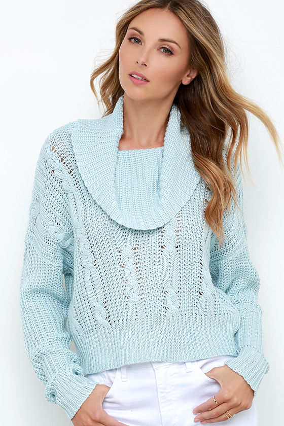 Somedays Lovin' Ralphie - Light Blue Sweater - Crop Sweater - $79.00