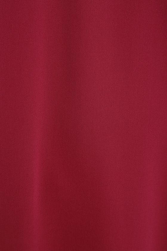 Shifting Dears Wine Red Long Sleeve Dress 6