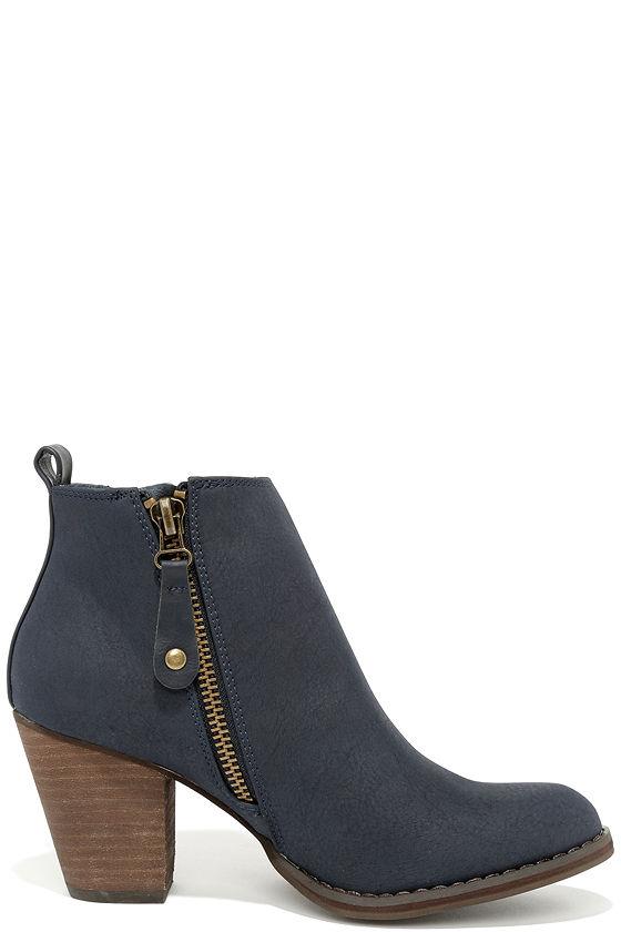 Navyboot Schoudertas : Cute navy boots ankle booties blue