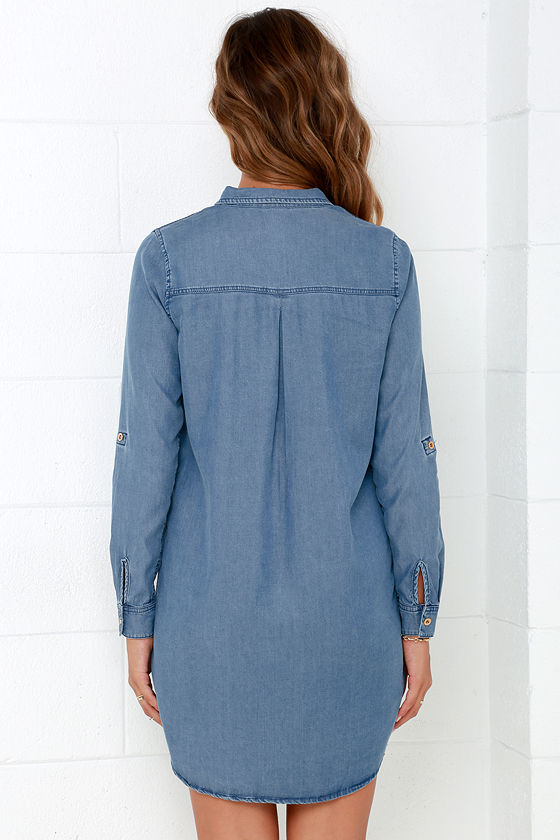 Shirt and Sweet Blue Chambray Shirt Dress 5