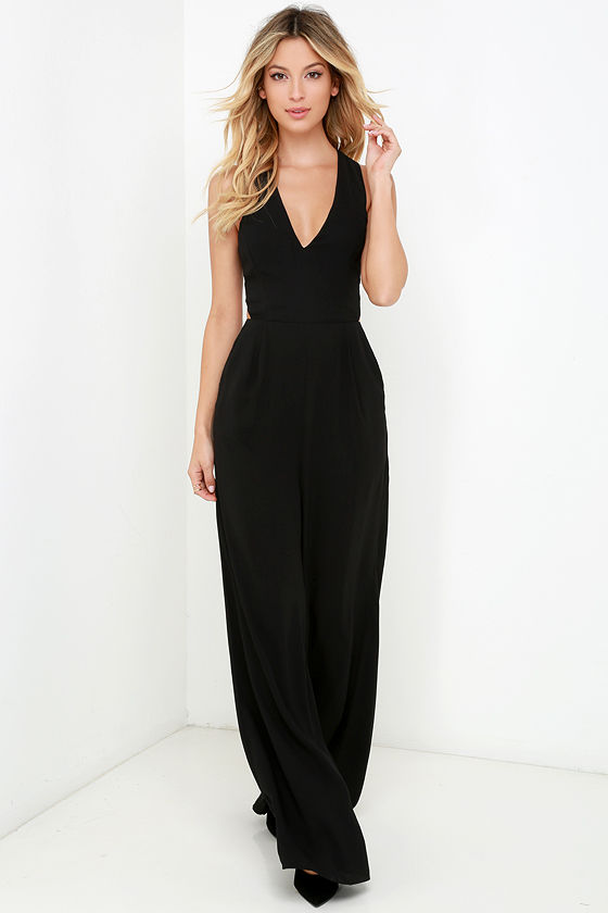 Chic Black Jumpsuit - Sleeveless Jumpsuit - Backless Jumpsuit - $59.00
