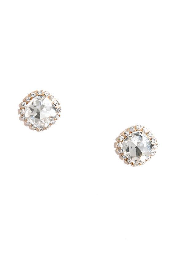 Shine With Me Clear Rhinestone Earrings 1