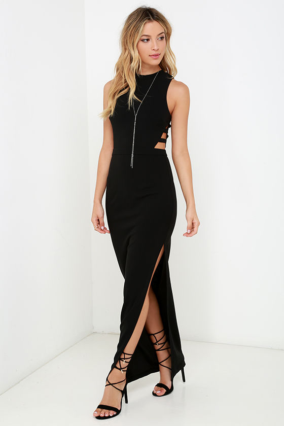 Black Dress - Maxi Dress - Sleeveless Dress - $56.00