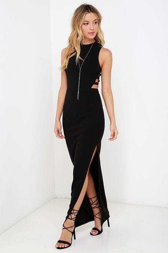 Black Dress - Maxi Dress - Sleeveless Dress - $56.00