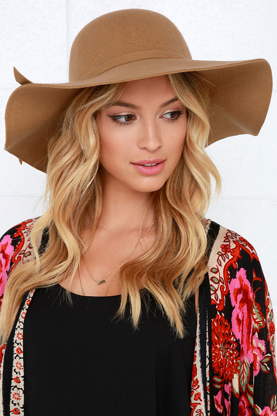 Tan Hat - Wool Hat - Floppy Hat -  27.00 28f9dba4037