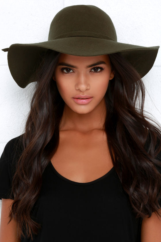 Olive Green Hat - Wool Hat - Floppy Hat -  27.00 f0774ee8c6b