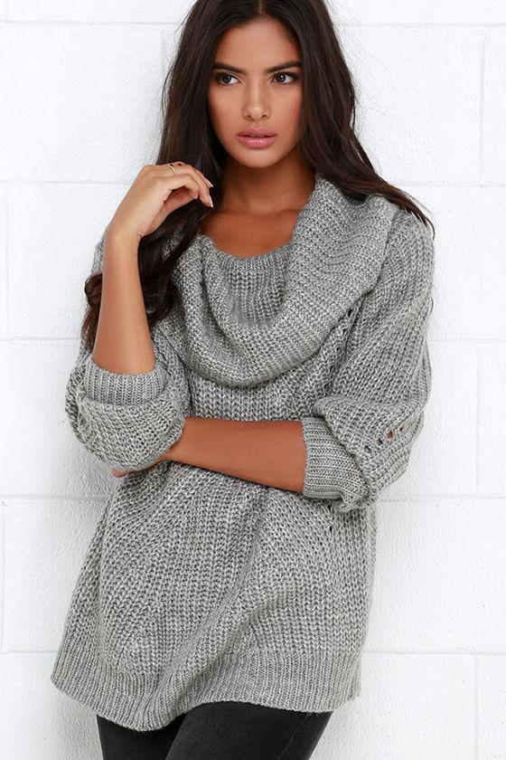 66315f7d04d707 Somedays Lovin  Comfort Inn - Grey Sweater - Oversized Sweater -  79.00