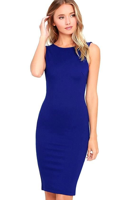 Like a Lady Royal Blue Backless Midi Dress 3