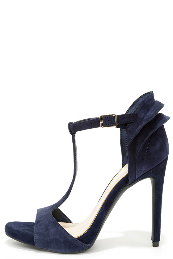 Jessica Simpson Rayanna - Blue Heels - T-Strap Heels - $95.00