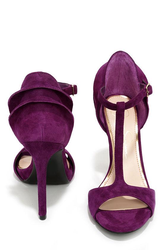 Jessica Simpson Rayanna - Purple Heels - T-Strap Heels - $95.00