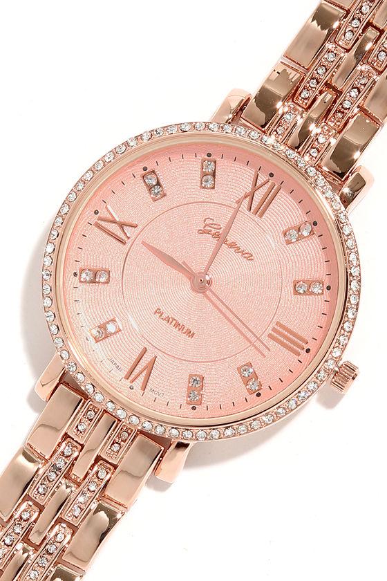 Chic Gold Watch - Round Face Watch - Rhinestone Watch -  26.00 717e39101