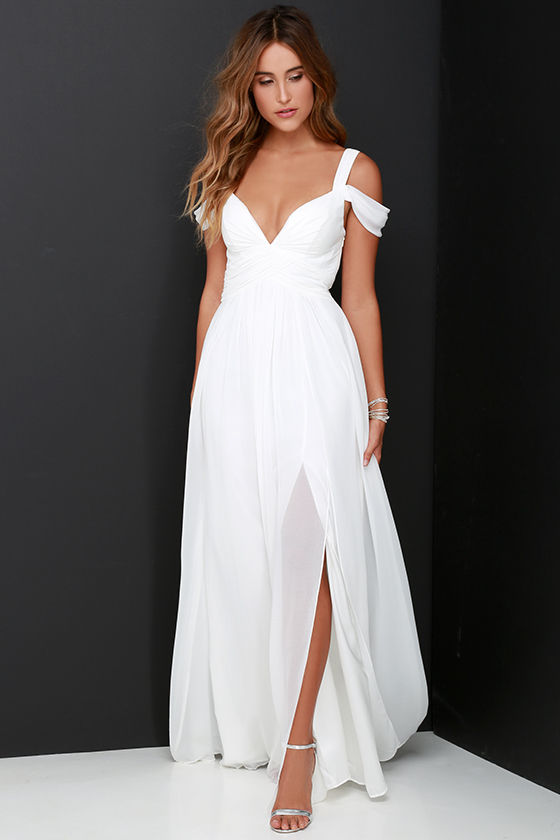 Elegant Ivory Dress - Maxi Dress - Cocktail Dress - Prom Dress ...