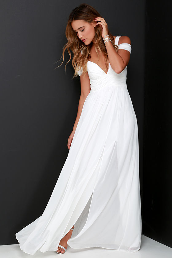 Bariano Ocean of Elegance Ivory Maxi Dress 3