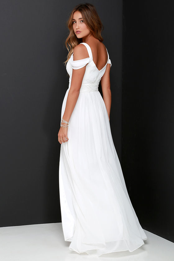 Bariano Ocean of Elegance Ivory Maxi Dress 4