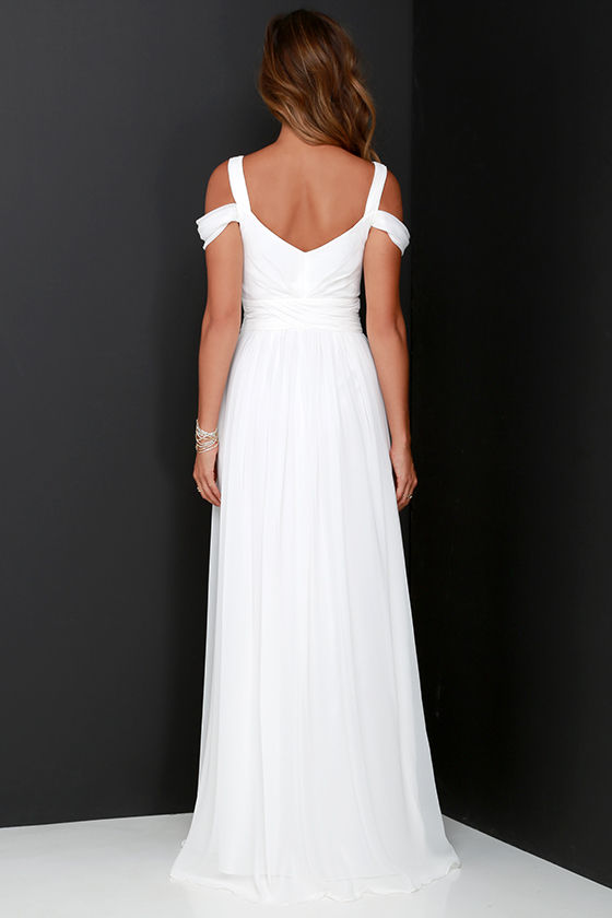 Bariano Ocean of Elegance Ivory Maxi Dress 5