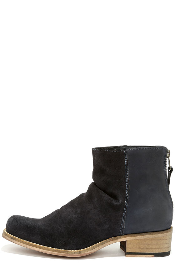 Seychelles Challenge - Suede Boots - Navy Boots - Leather Ankle ...