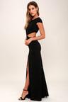 Sexy Black Dress Maxi Dress Cutout Dress Backless Dress 7400
