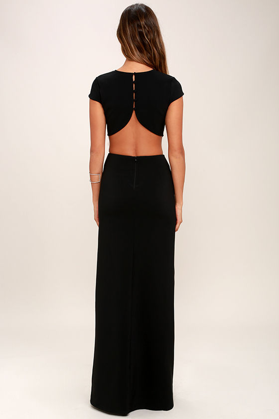 Sexy Black Dress - Maxi Dress - Cutout Dress - Backless Dress - $74.00