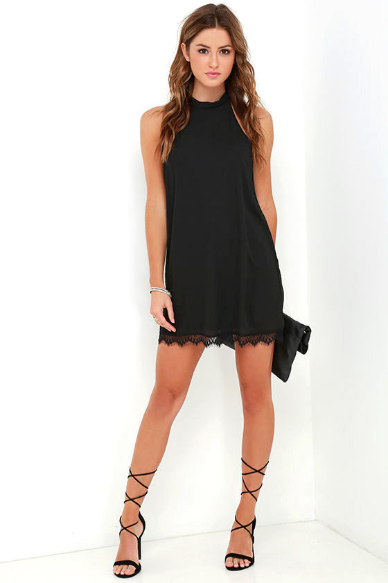Such Admiration Black Lace Dress 2
