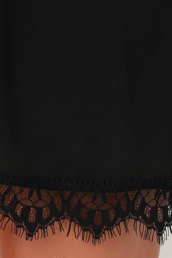 Such Admiration Black Lace Dress 6