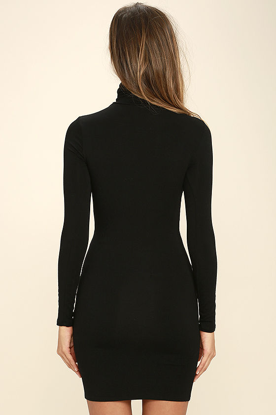 High Hopes Black Long Sleeve Bodycon Dress 4