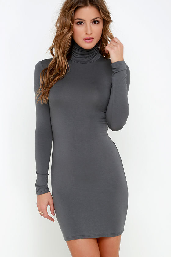 long sleeve dresses below the knee