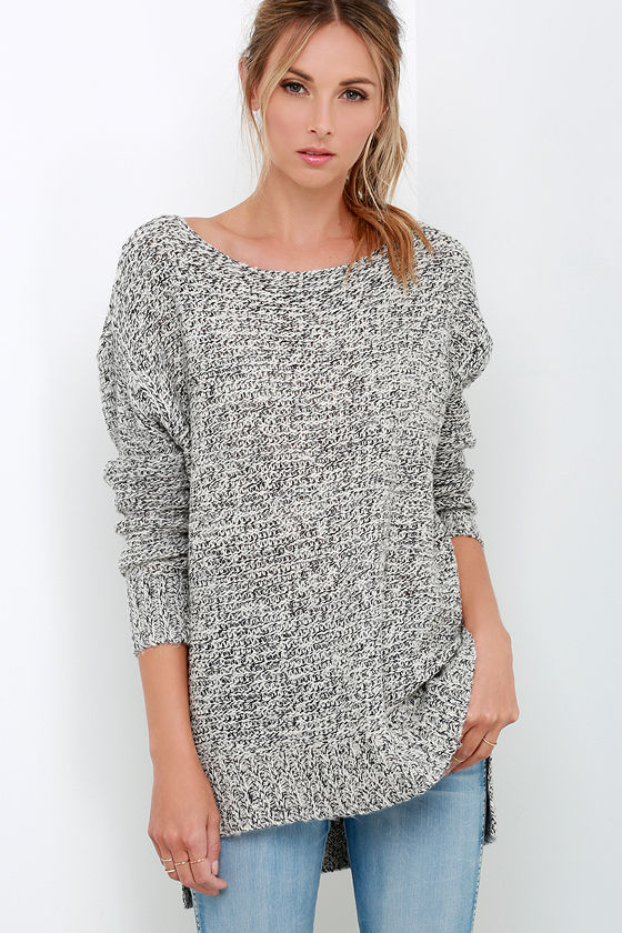 Cherished Embrace Grey Sweater 1