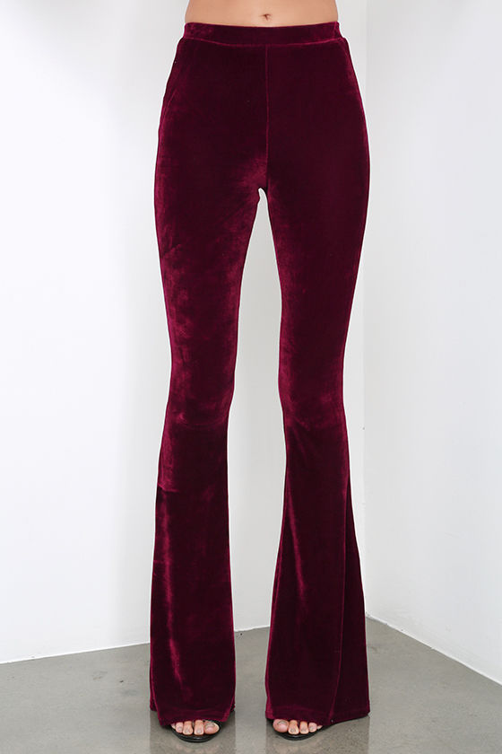 Maroon Yoga Pants