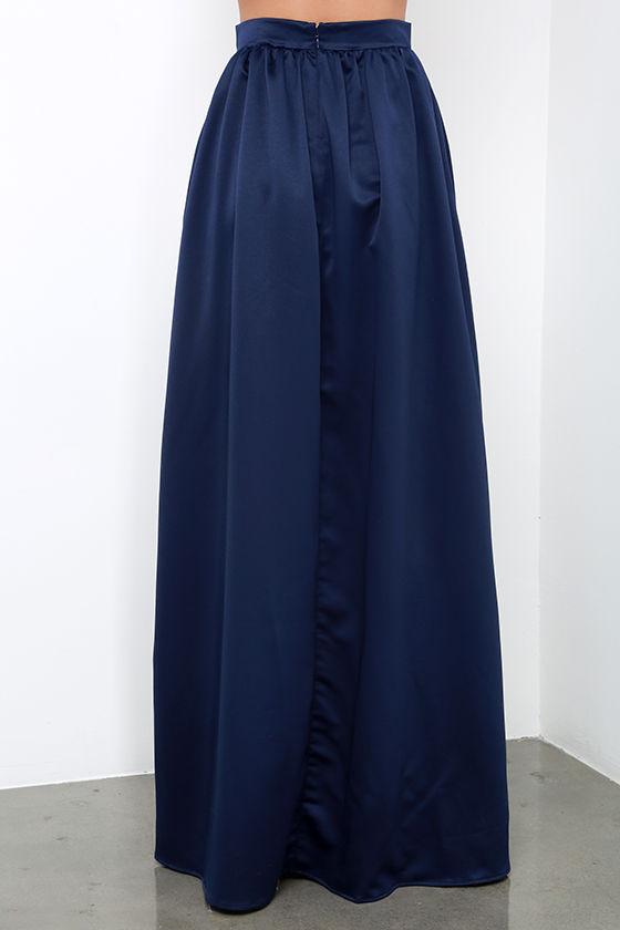 beautiful navy blue skirt maxi skirt slit skirt 62 00