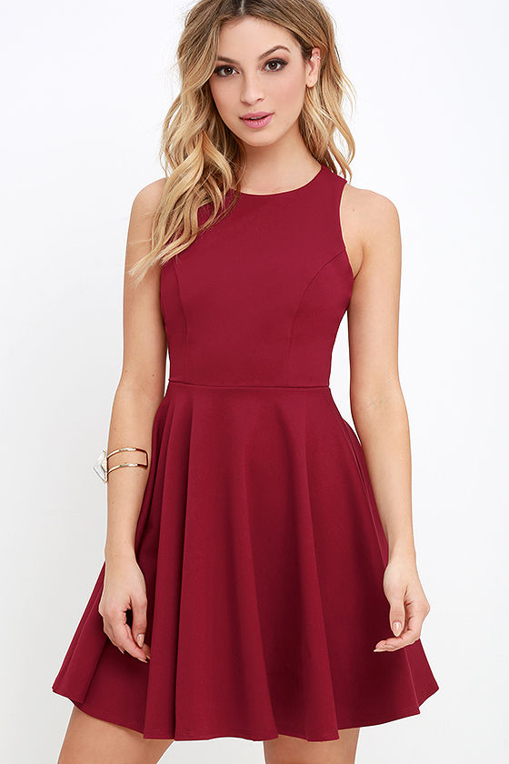 Red skater dress sleeveless