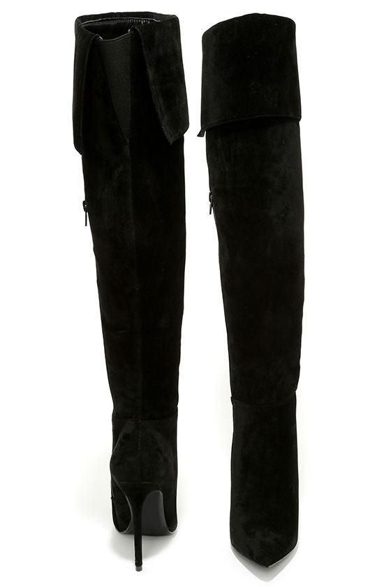 Sexy Black Boots - Over the Knee Boots - High Heel Boots - $49.00