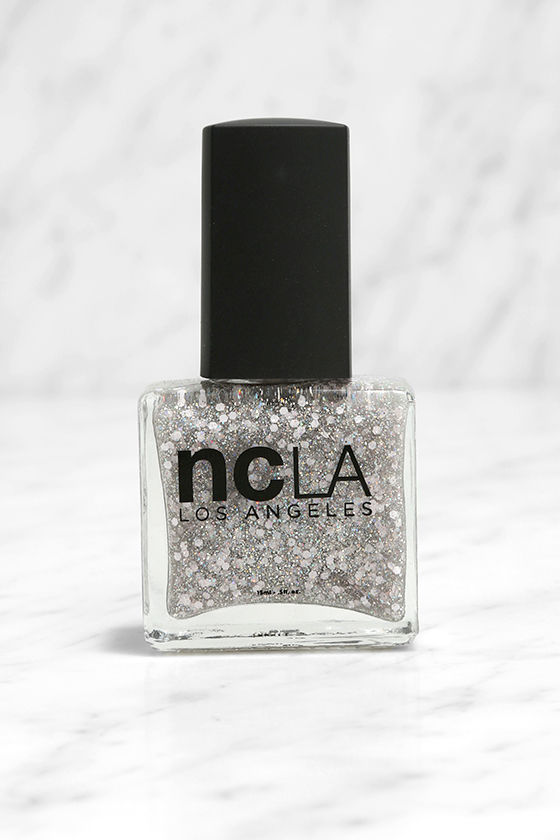 NCLA Match Made in Cali Sparkle & Shine Silver Nail Lacquer Set 2